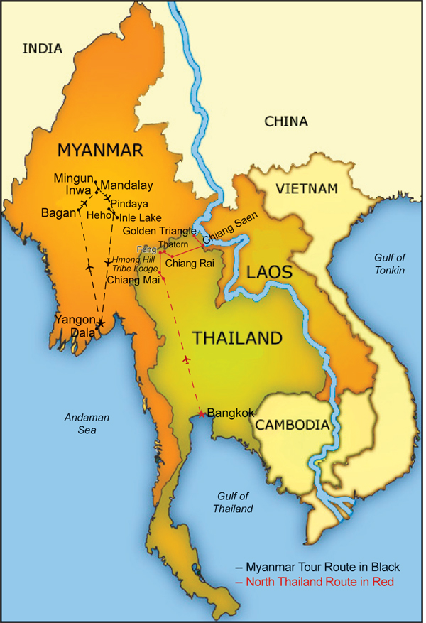 Splendors Of South East Asia Burma North Thailand Laos And: Map Of Myanmar Thailand And Laos At Infoasik.co